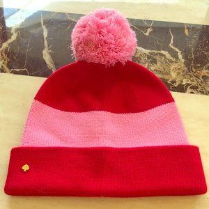 NWOT Adorable Kate Spade Pom Pom hat